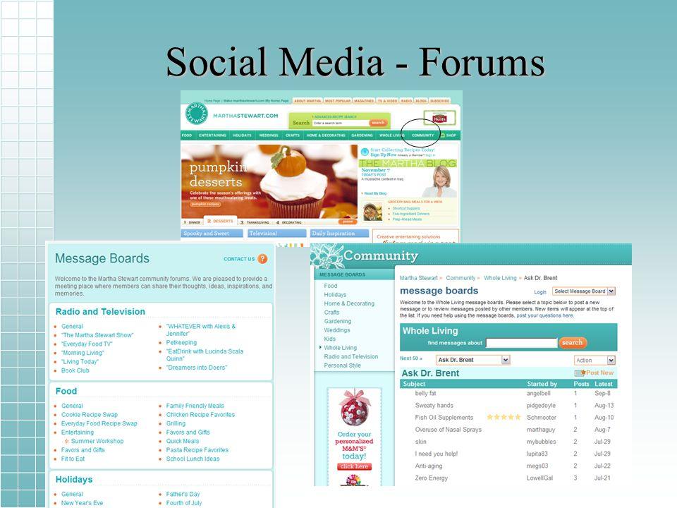 Social Media - Forums