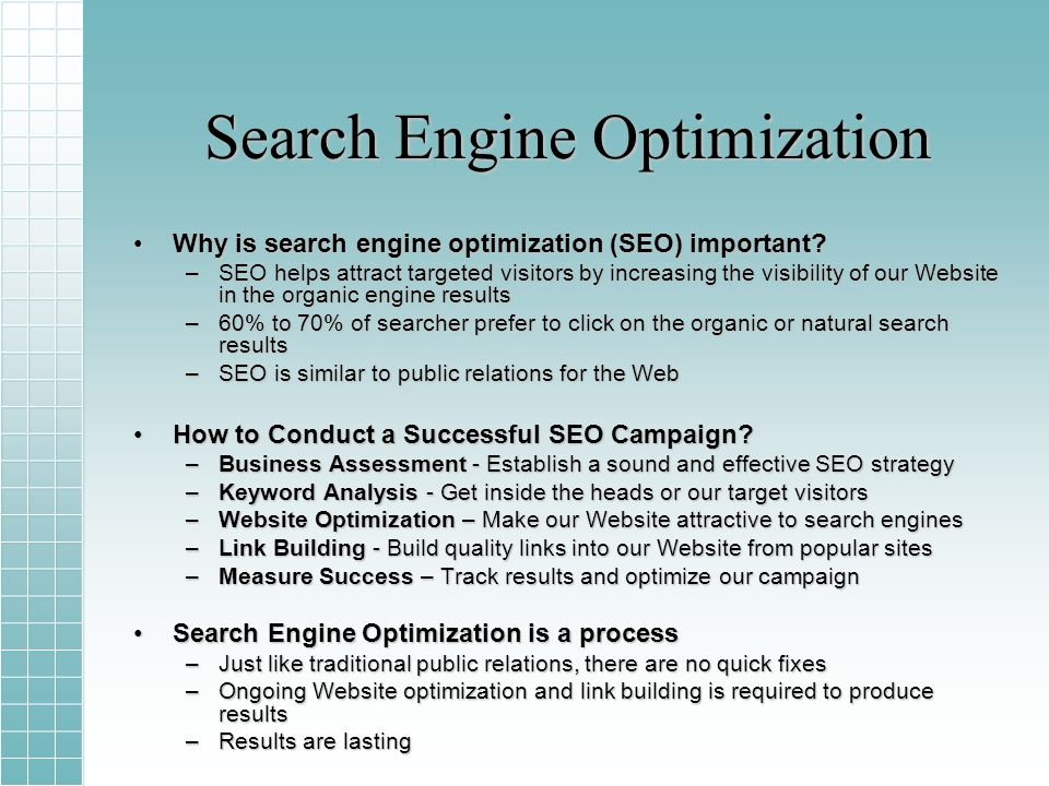 Search Engine Optimization Why is search engine optimization (SEO) important?Why is search engine optimization (SEO) important.