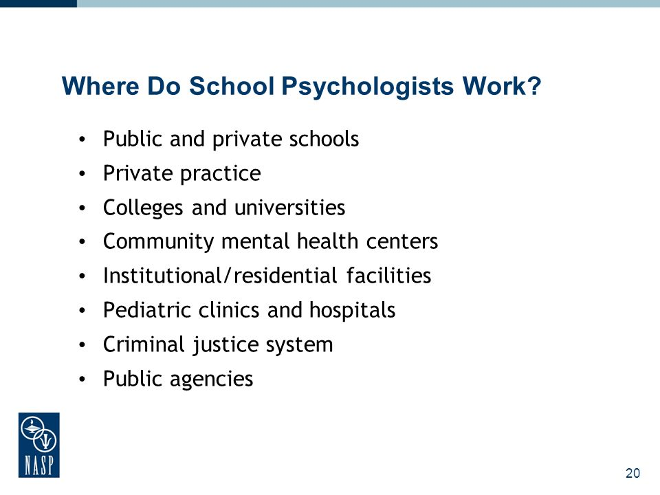 20 Where Do School Psychologists Work.