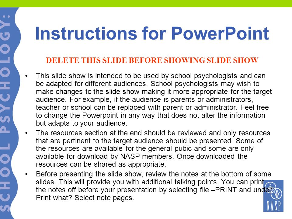 Resilience: Strategies for Parents and Educators Presented by: YOUR NAME, TITLE © 2005 National Association of School Psychologists, www.nasponline.org
