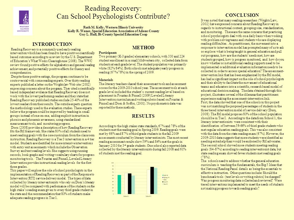 Reading Recovery: Can School Psychologists Contribute.