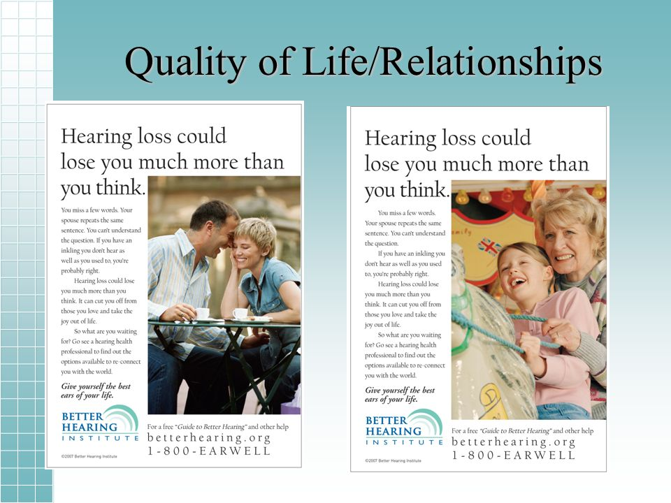 Quality of Life/Relationships