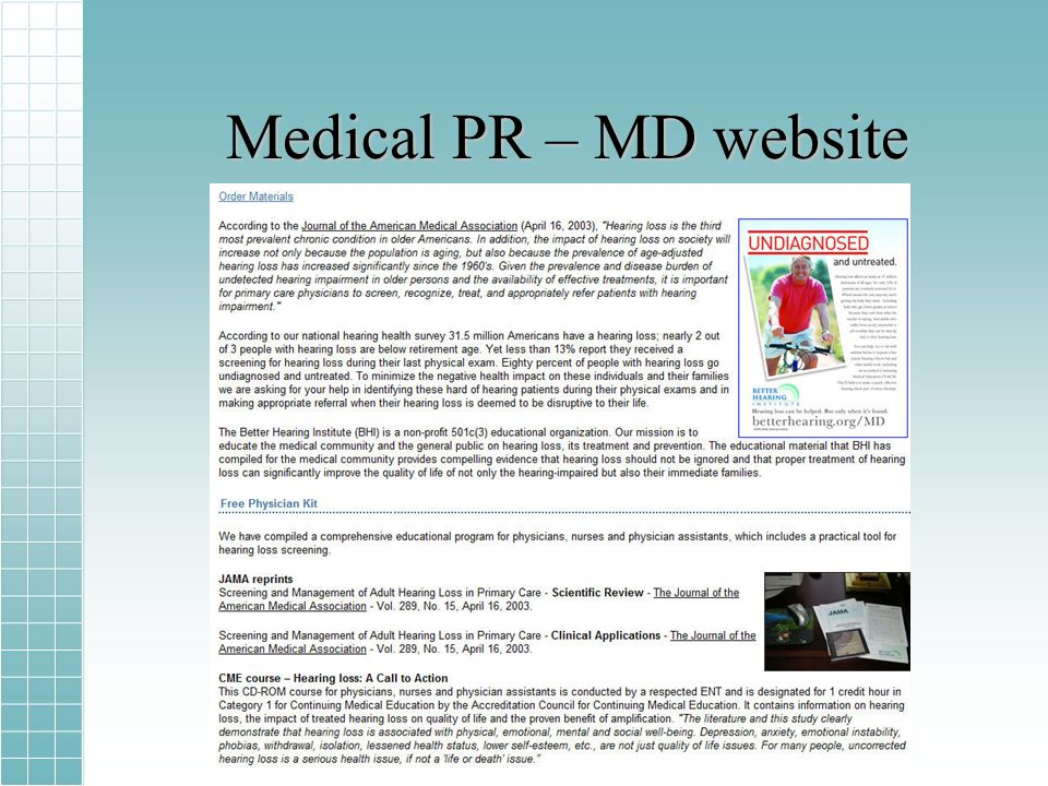 Medical PR – MD website