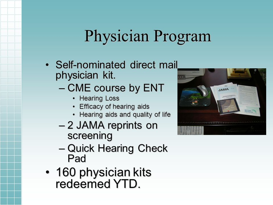 Physician Program Self-nominated direct mail physician kit.Self-nominated direct mail physician kit.