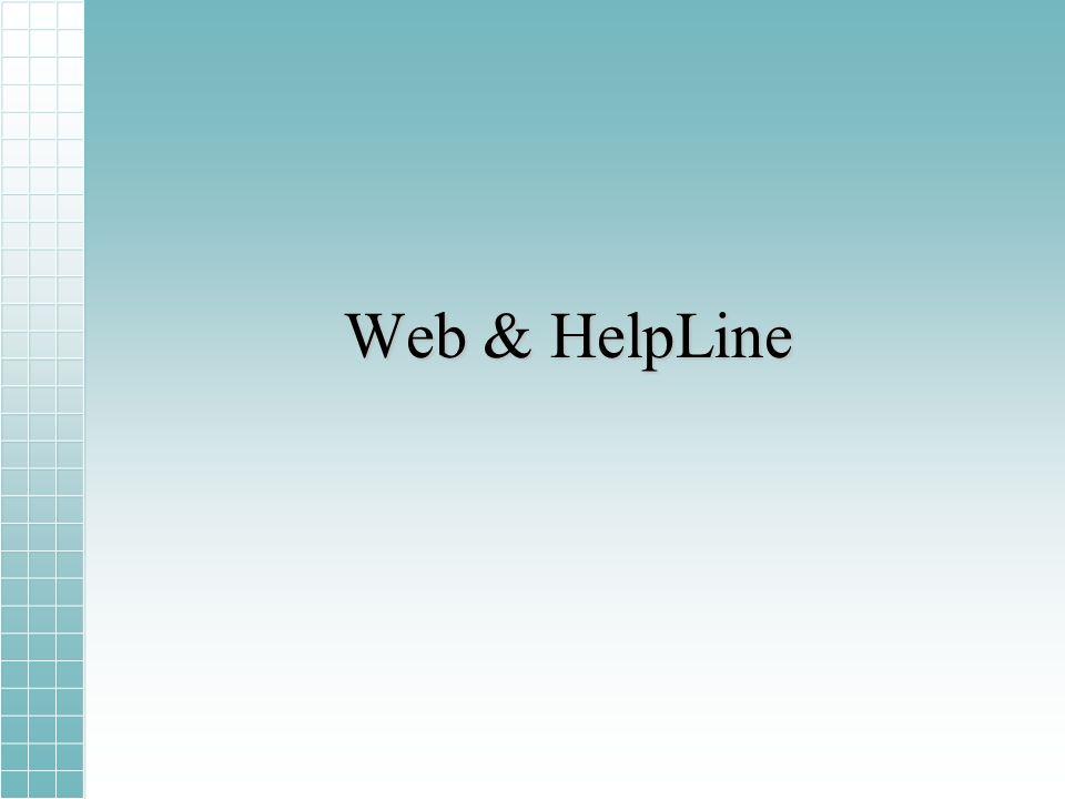 Web & HelpLine