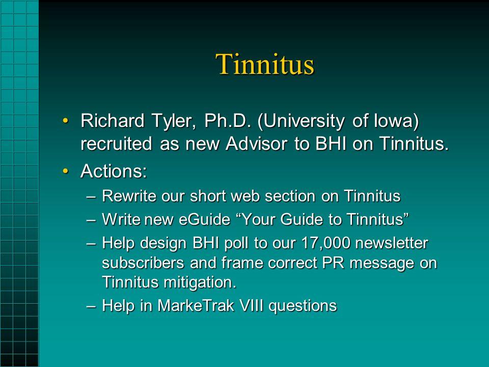 Tinnitus Richard Tyler, Ph.D.