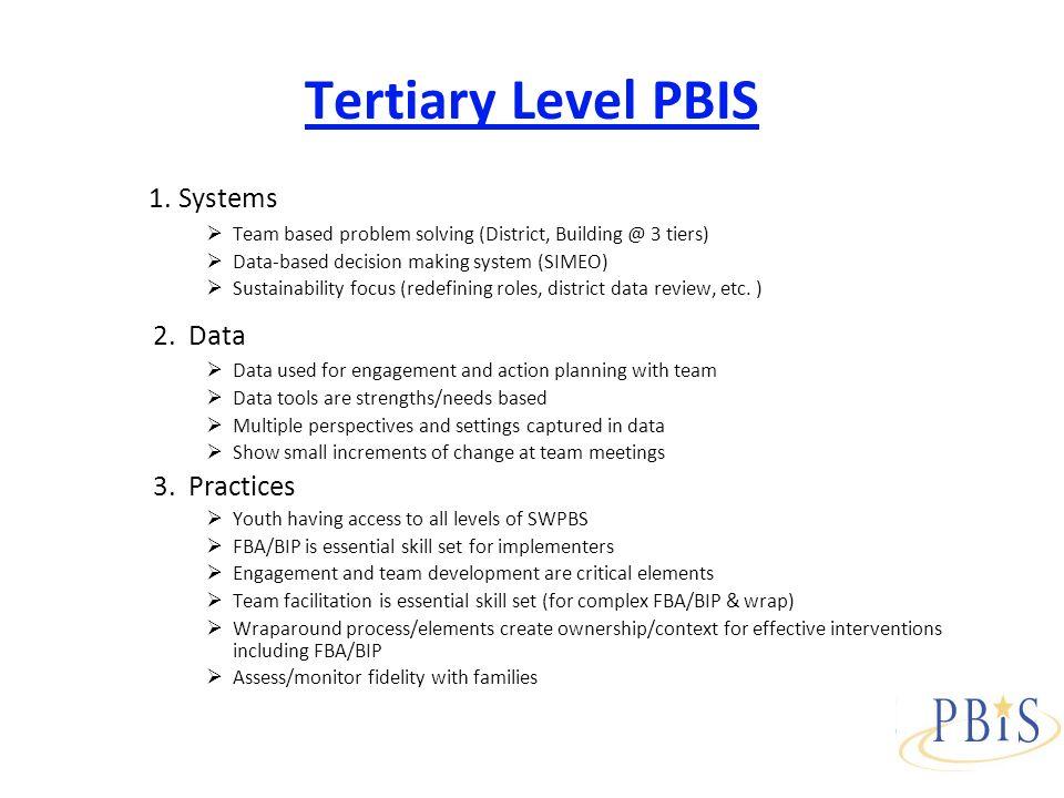 Tertiary Level PBIS 1.