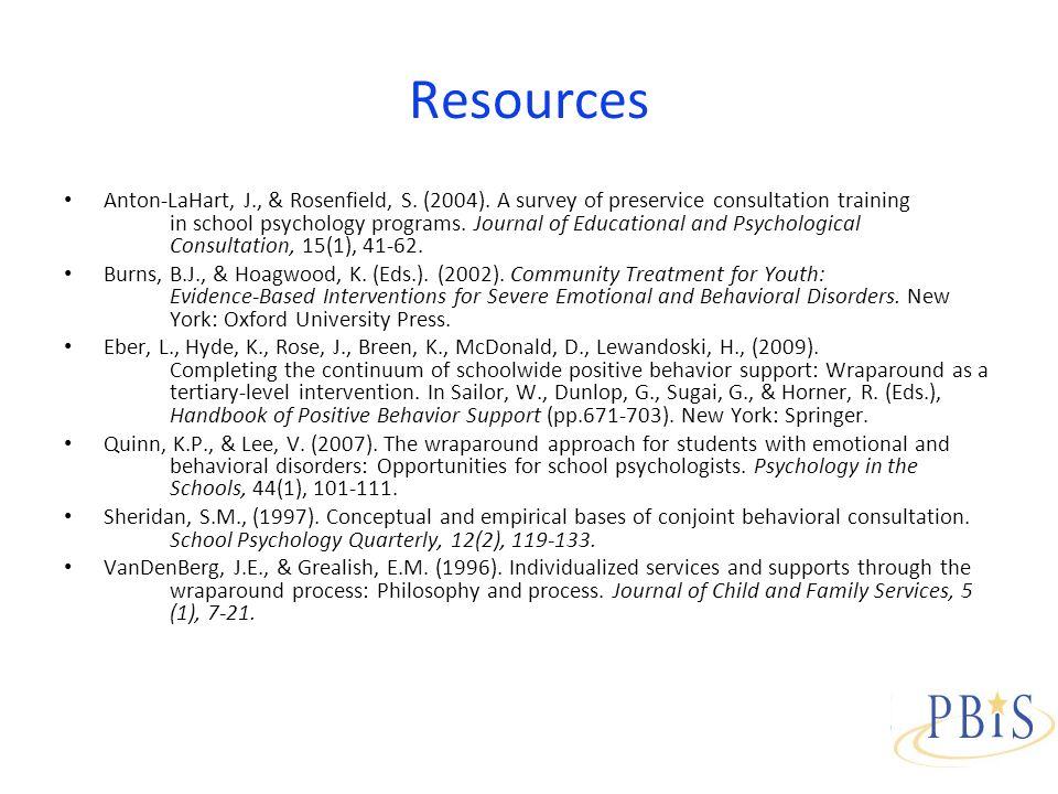 Resources Anton-LaHart, J., & Rosenfield, S. (2004).