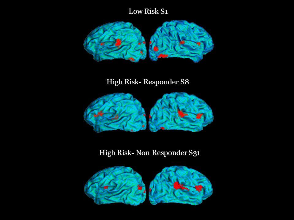 Low Risk S1 High Risk- Responder S8 High Risk- Non Responder S31
