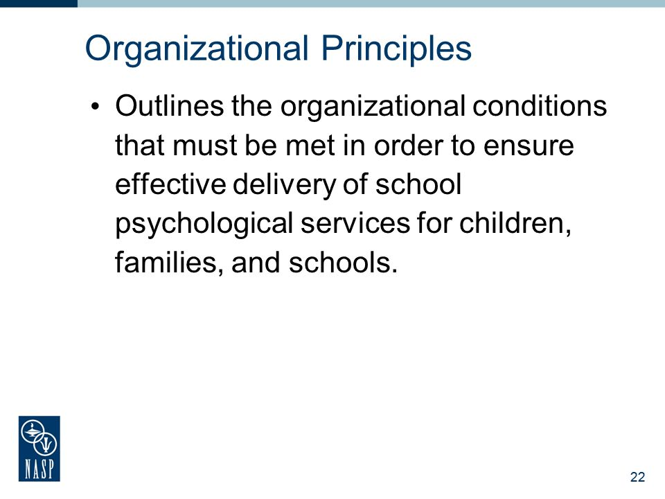 21 Foundations of School Psychological Service Delivery Legal, ethical, and professional practice knowledge of the history and foundations of school p
