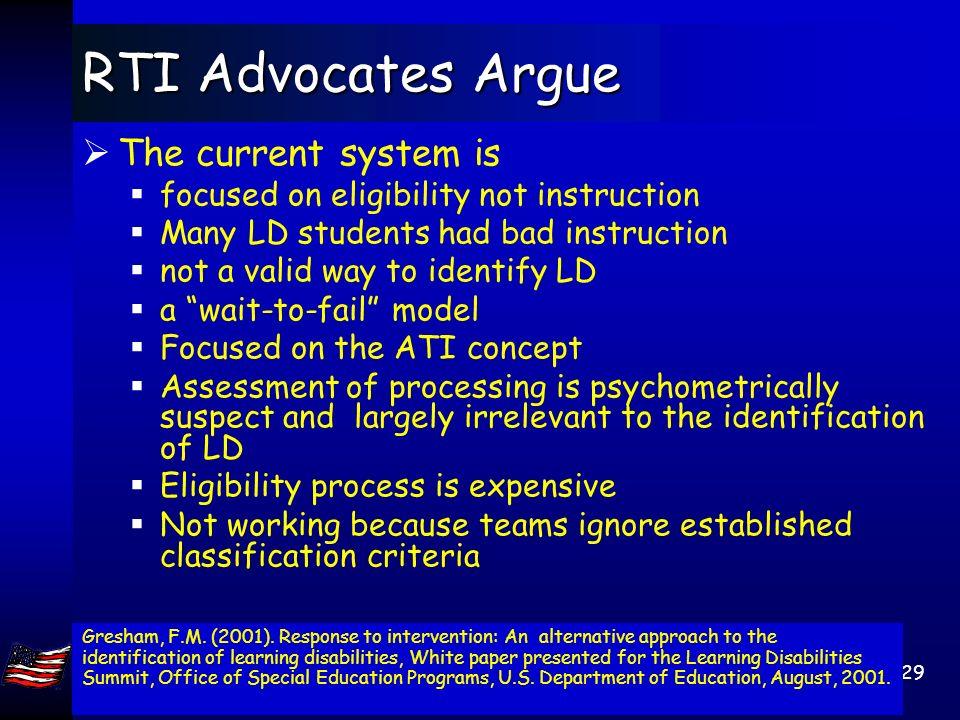 Jack A. Naglieri, Ph.D. George Mason Univ, Fairfax, VA 22030. naglieri@gmu.edu 28 IDEA Reauthorization Topical outline IDEA reauthorization The proble