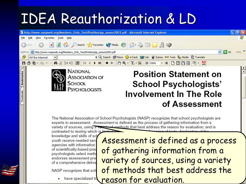 Jack A. Naglieri, Ph.D. George Mason Univ, Fairfax, VA 22030. naglieri@gmu.edu 78 IDEA Reauthorization & RTI Other issues…