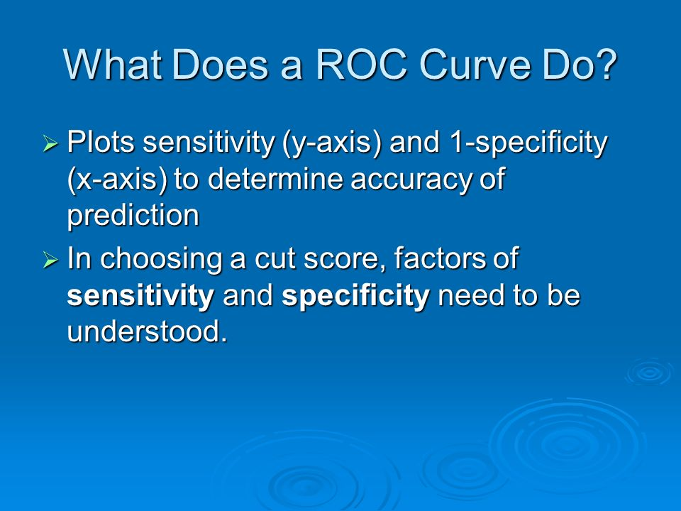 What Does a ROC Curve Do.