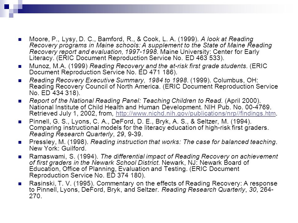Moore, P., Lysy, D. C., Bamford, R., & Cook, L. A.