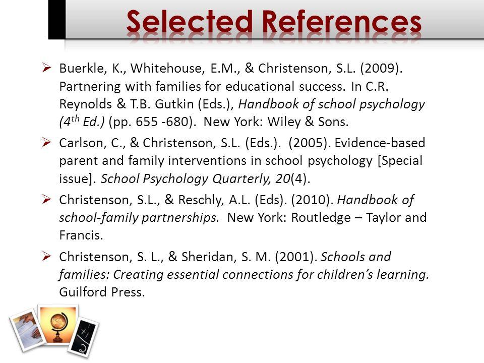 Buerkle, K., Whitehouse, E.M., & Christenson, S.L.