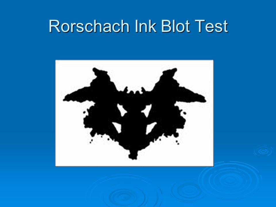 Rorschach Ink Blot Test