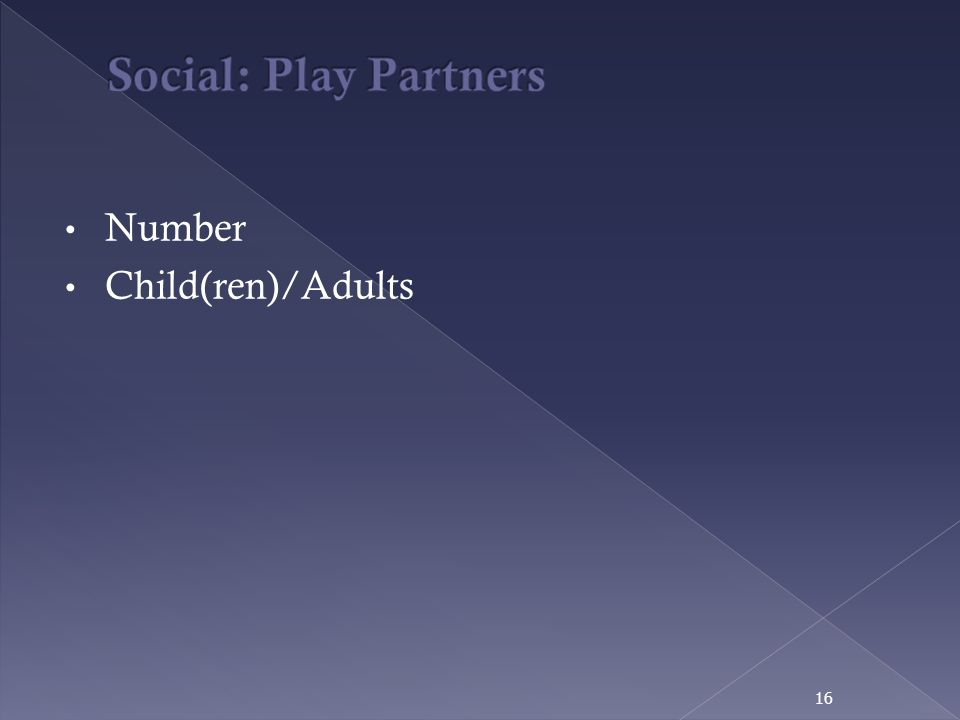 Number Child(ren)/Adults 16