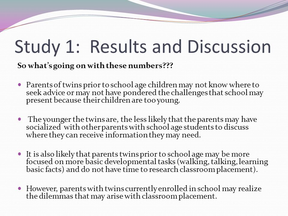 Study 1: Results and Discussion So whats going on with these numbers .