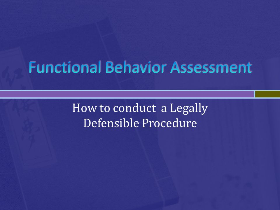 How to conduct a Legally Defensible Procedure