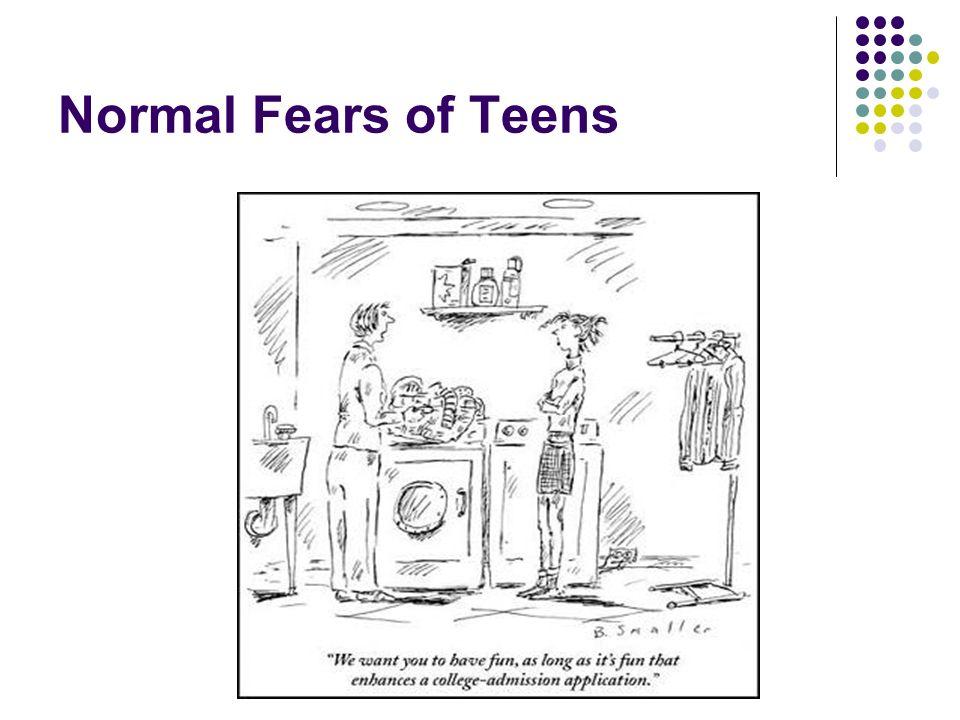Normal Fears of Teens