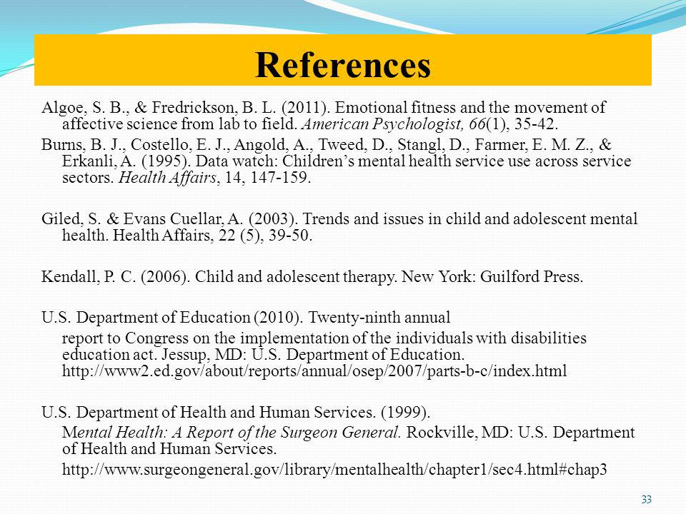 References Algoe, S.B., & Fredrickson, B. L. (2011).
