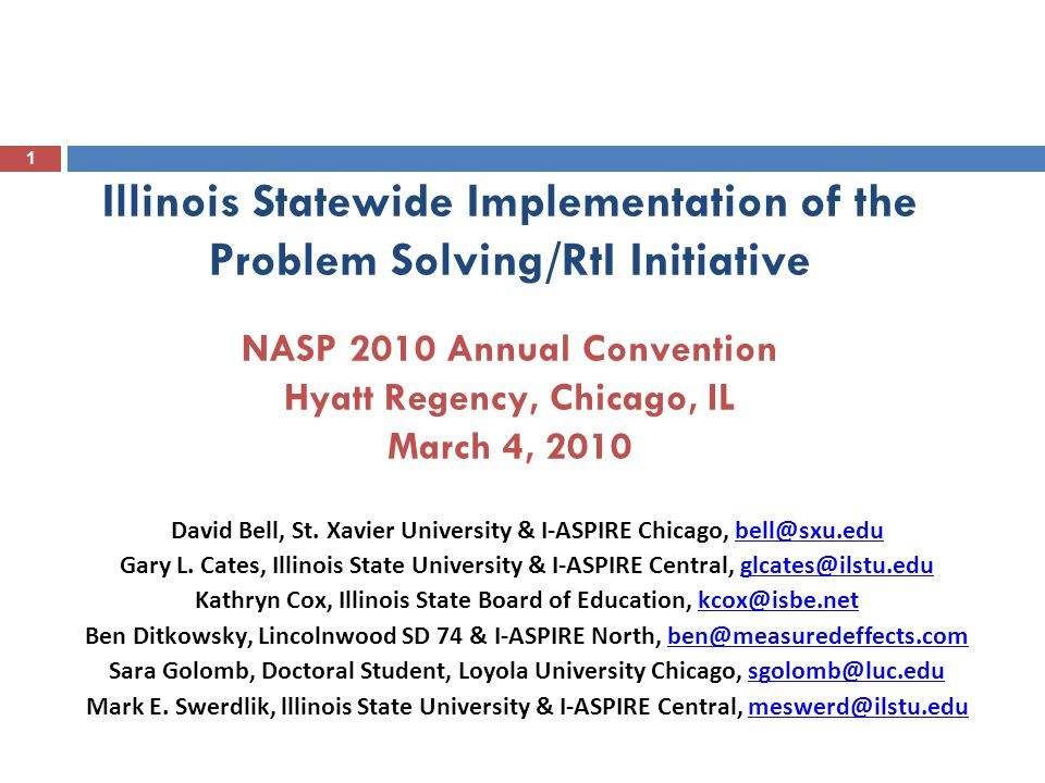 2 Session Objectives In todays presentation, we will: Provide an overview of Illinois ASPIRE and the major project evaluation components Discuss project evaluation results from three data sources: Self-Assessment of Problem Solving Implementation (SAPSI) Student Outcome Data IHE Checklist (Review of selected educator preparation programs in Illinois) Share some of challenges associated with data collection for project evaluation