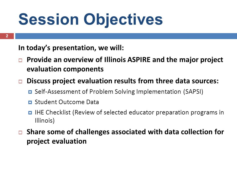Illinois – ASPIRE Northern Region Targeted Program Evaluation Ben Ditkowsky Lincolnwood School District 74 I-ASPIRE North 33