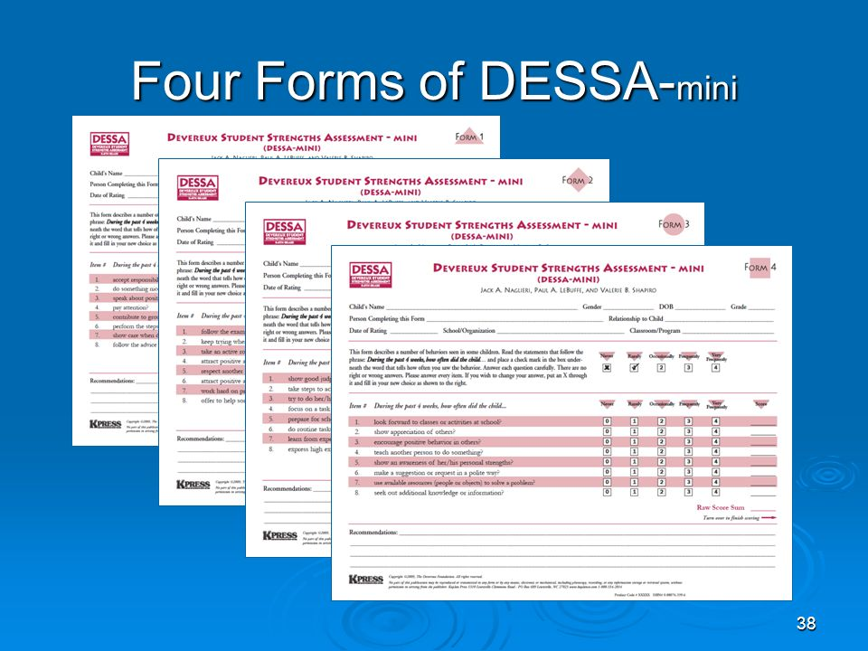 Four Forms of DESSA- mini 38