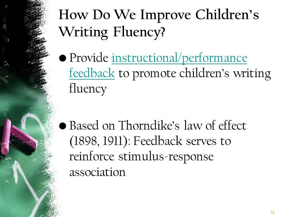 12 How Do We Improve Childrens Writing Fluency.
