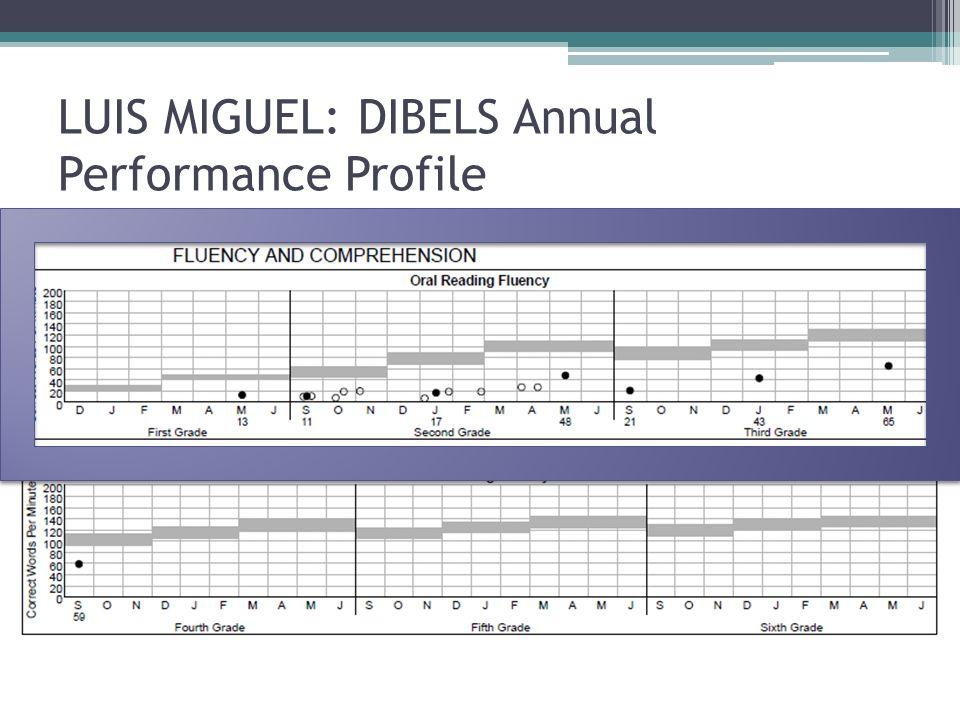 LUIS MIGUEL: DIBELS Annual Performance Profile