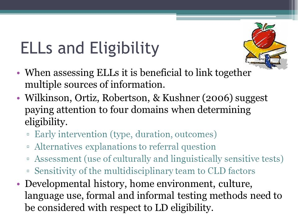 Data interpretation for eligibility Many school psychologists may find themselves unsure of how to go about incorporating data from curriculum based measures along with scores from standardized measures into their evaluation.