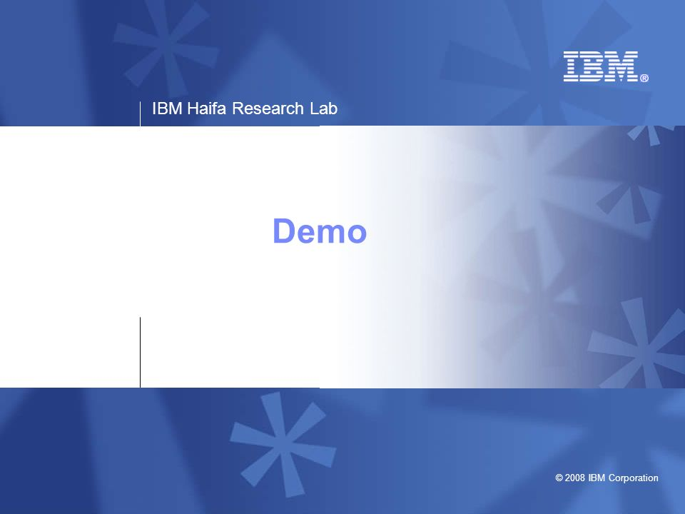 IBM Haifa Research Lab © 2008 IBM Corporation 17http://www.haifa.il.ibm.com/projects/storage/ltdp/index.shtml Transform AIP flow in PDS PDS web service transformAip (targetAIPID, transformationAIPID) AIP ID Access transformation AIP Access target AIP Execute transformation Ingest result as new AIP, a version of the target AIP Preservation Engine