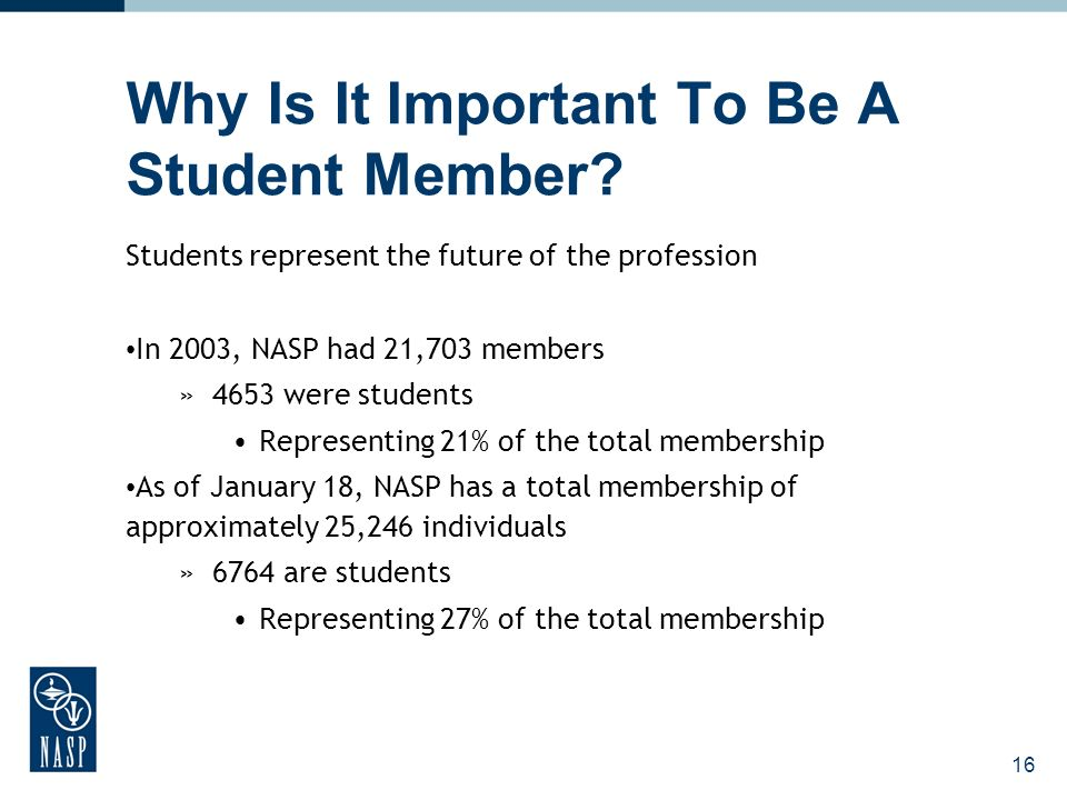 16 Why Is It Important To Be A Student Member.