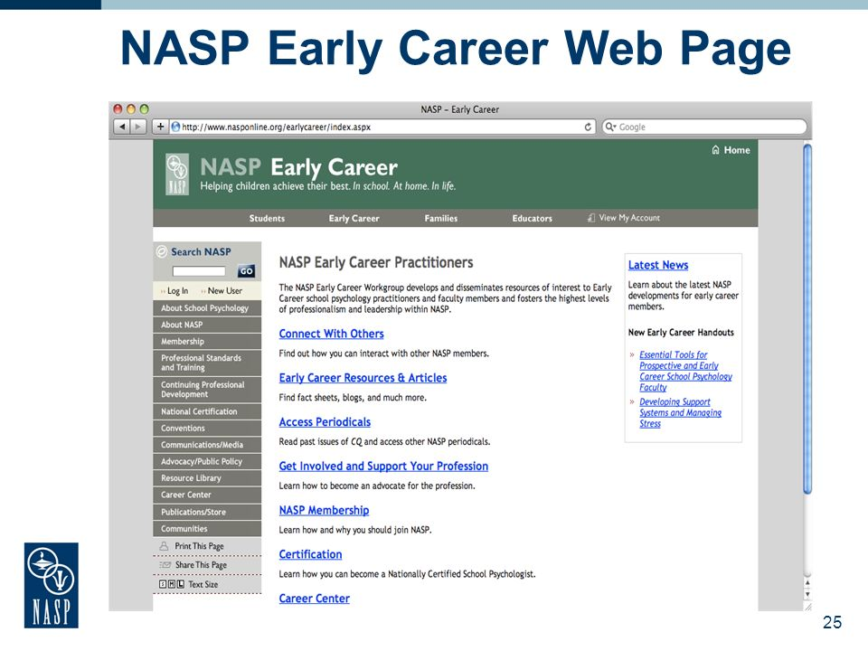 NASP Early Career Web Page 25