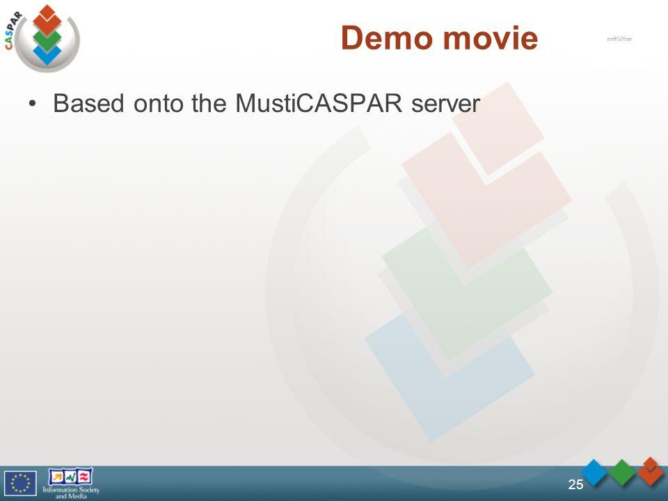 25 Demo movie Based onto the MustiCASPAR server