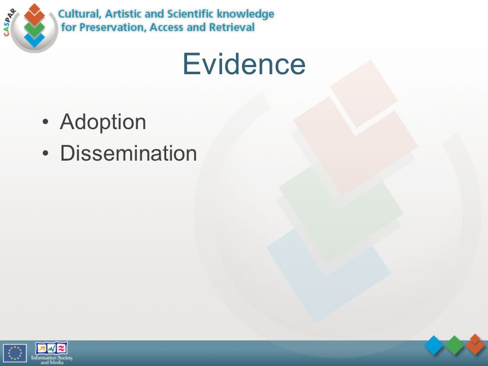 Evidence Adoption Dissemination