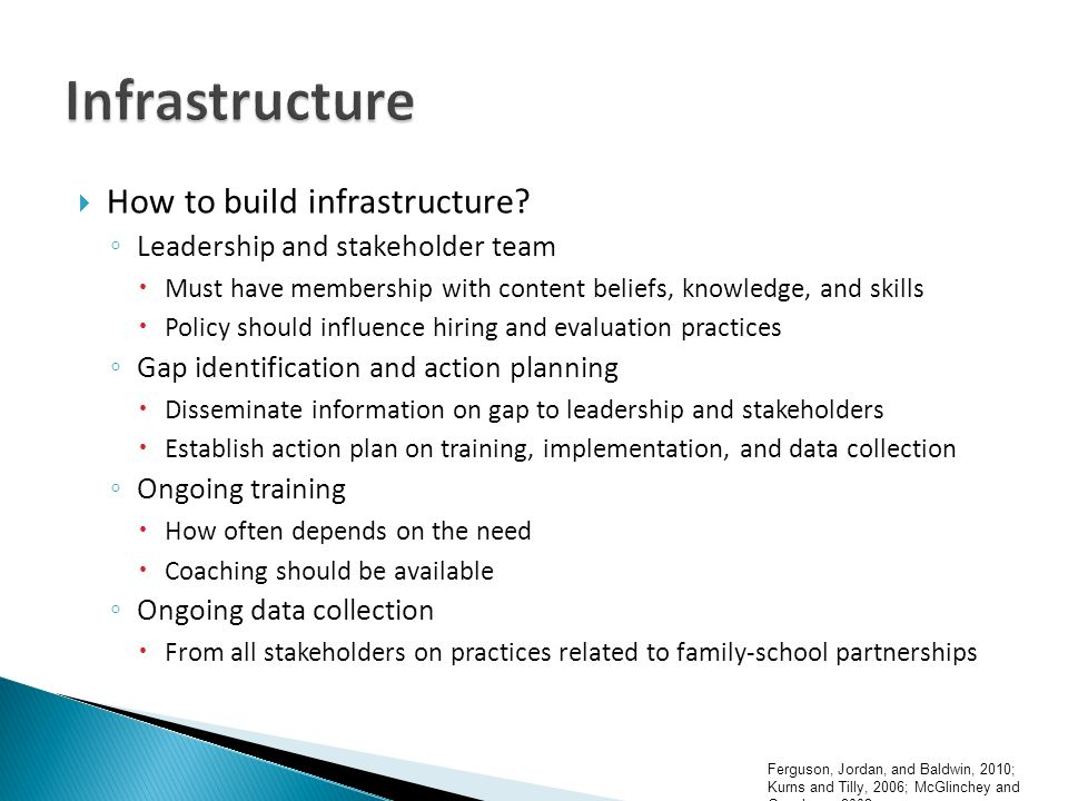 How to build infrastructure.
