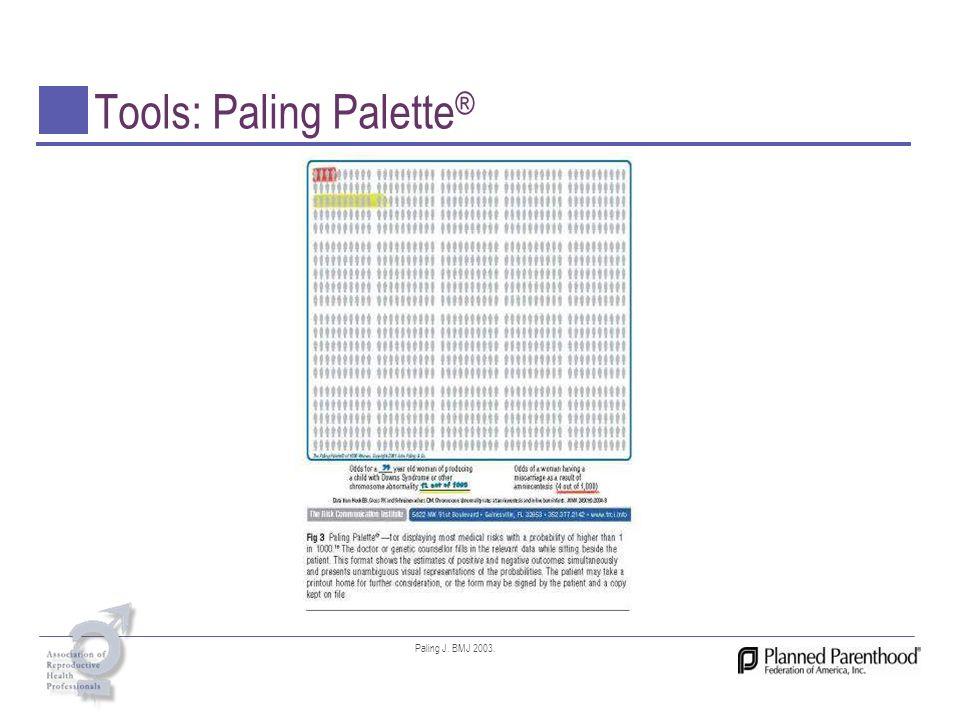 Tools: Paling Palette ® Paling J. BMJ 2003.