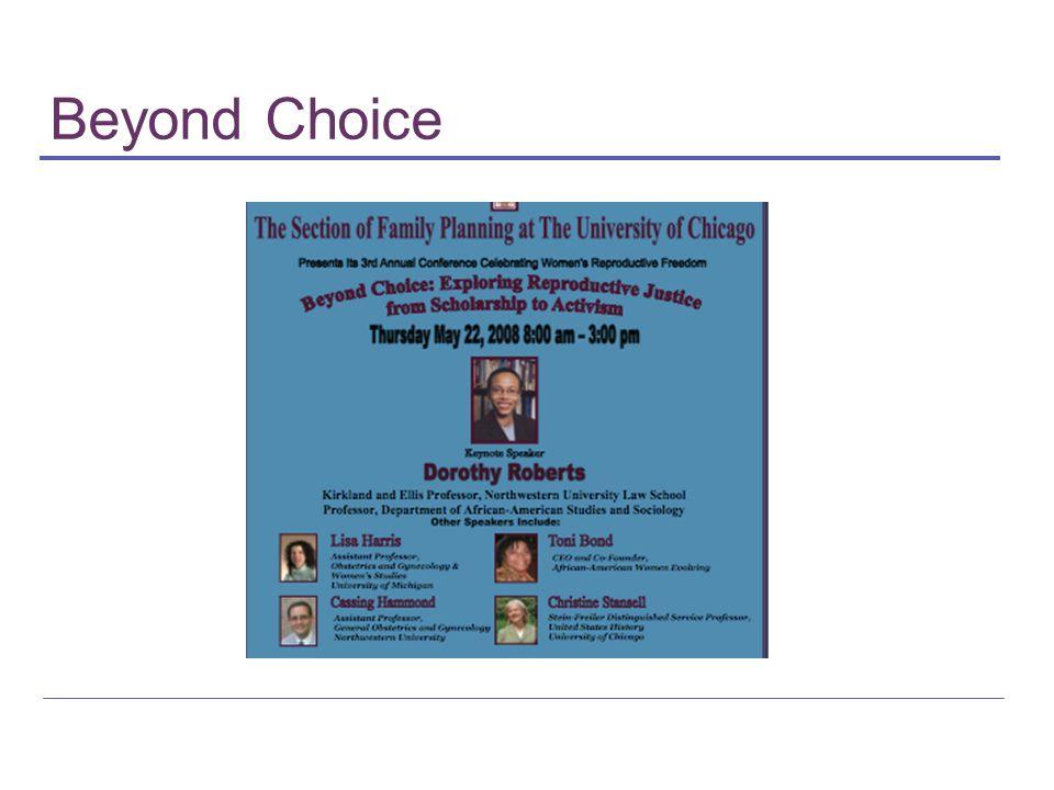 Beyond Choice