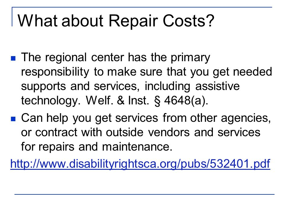 What about Repair Costs.