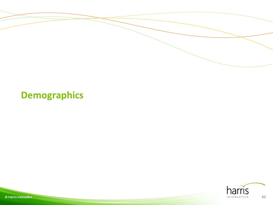 © Harris Interactive Demographics 60
