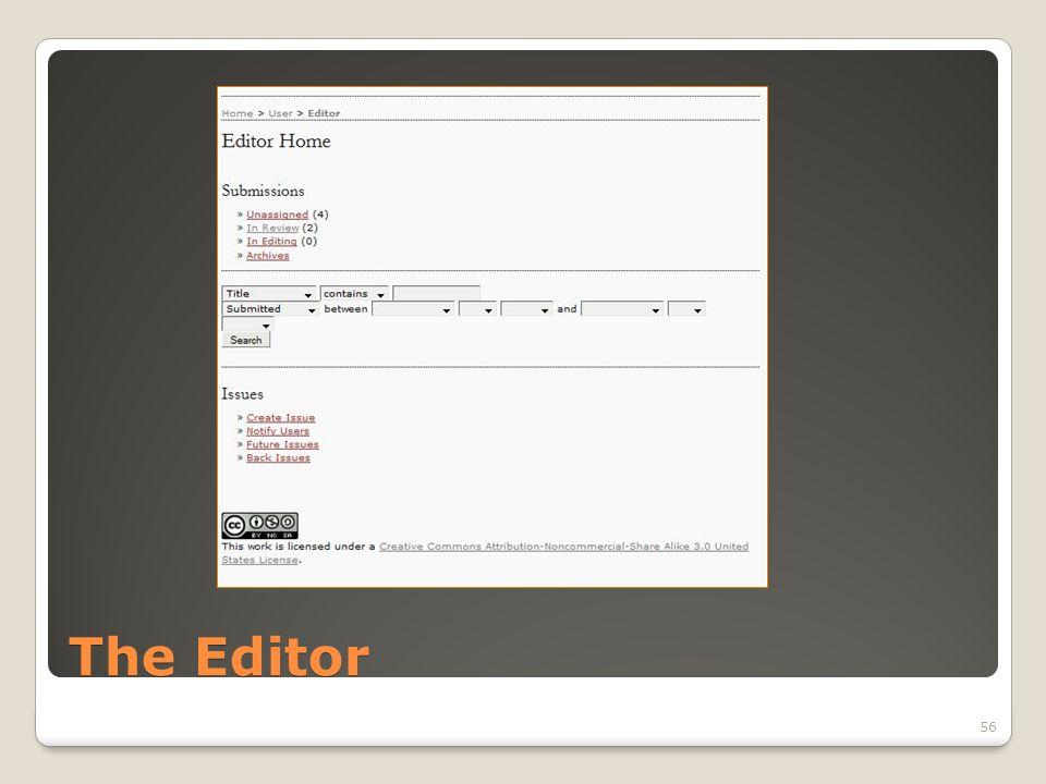 The Editor 56