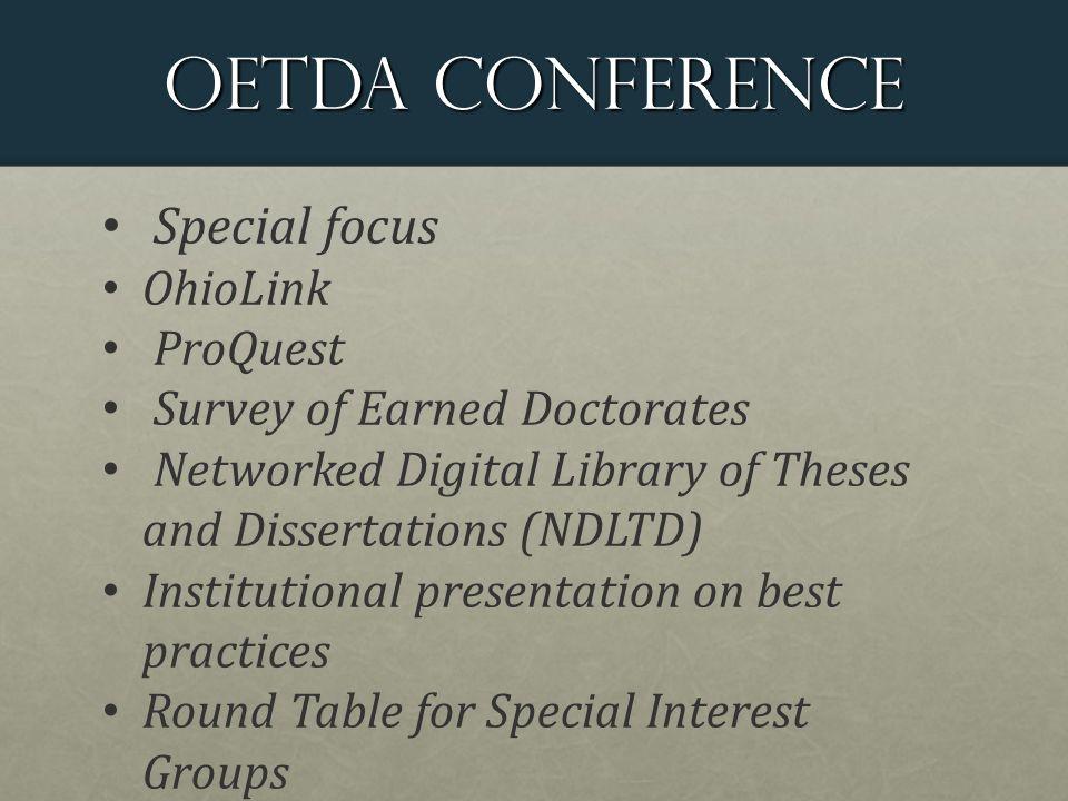 OETDA Meeting Focus on single best practices topic