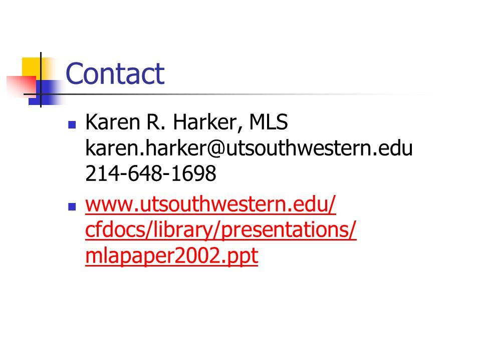 Contact Karen R.