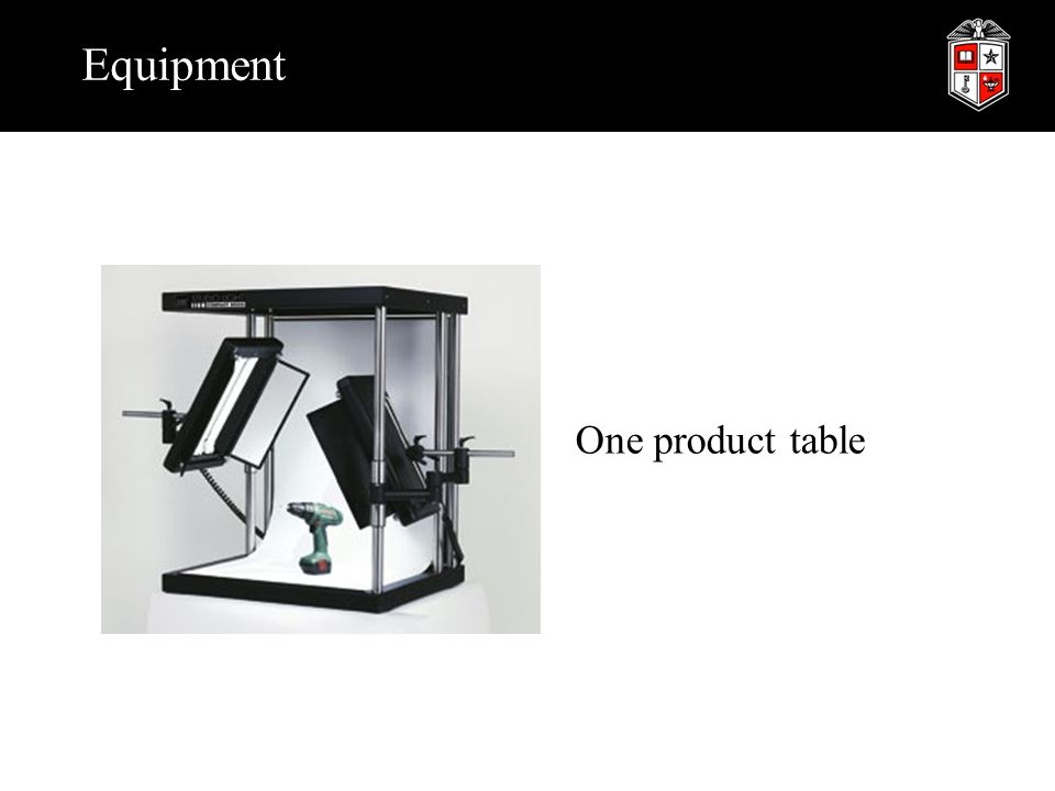 Equipment One product table
