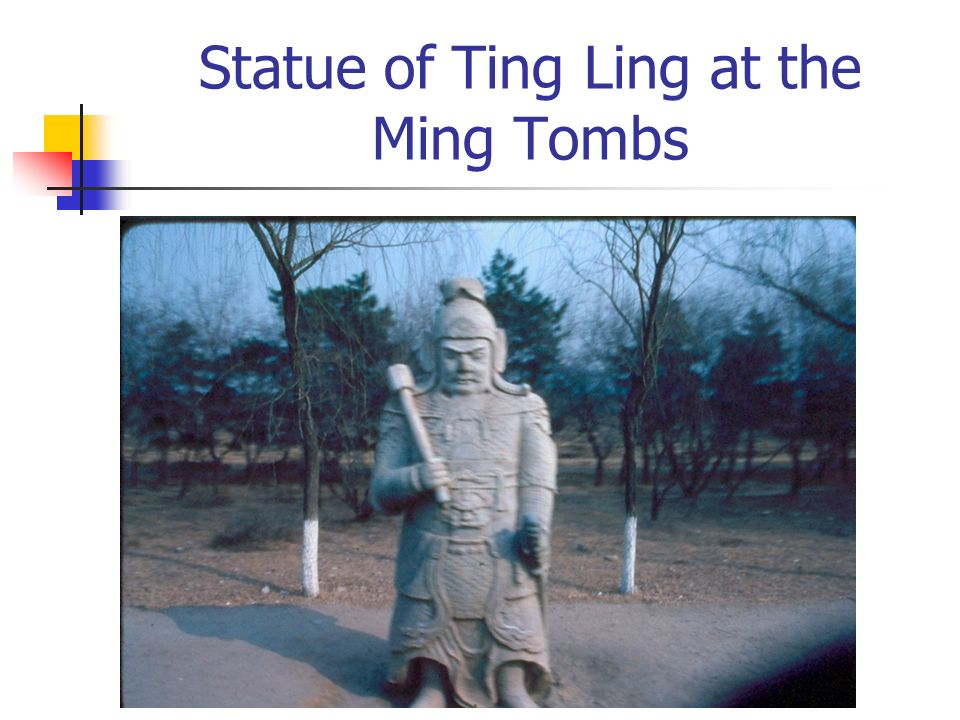 Statue of Ting Ling at the Ming Tombs