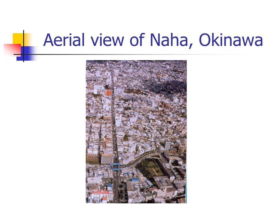 Aerial view of Naha, Okinawa
