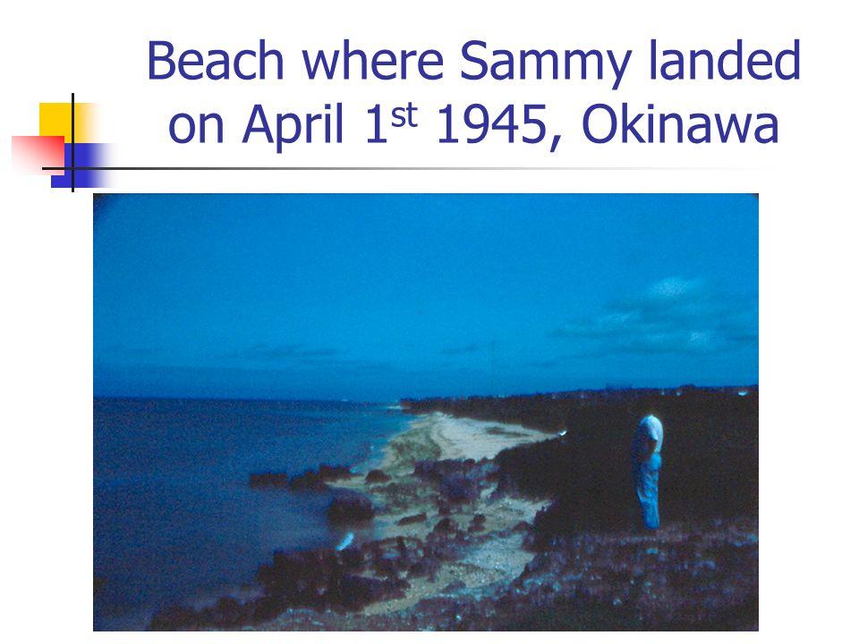 Beach where Sammy landed on April 1 st 1945, Okinawa