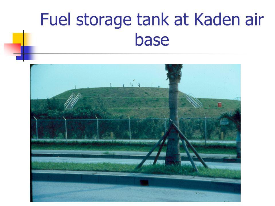 Fuel storage tank at Kaden air base