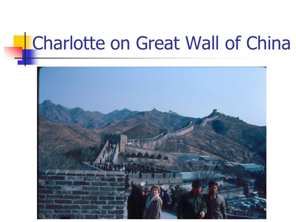 Charlotte on Great Wall of China